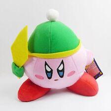 """KIRBY Jumbo Dark Green Cap 8"""" Soft Plush Toy"""