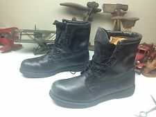 BLACK STEEL TOE DISTRESSED USA MILITARY LACE UP ENGINEER WORK BOSS BOOTS 13 R