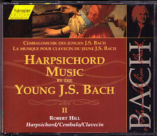 BACH Harpsichord Music by Young JS Bach 2 ROBERT HILL 2CD Sarabande con Partite