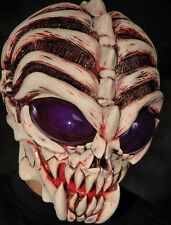 Down to Earth Alien Skeleton Monster Martian Scary Adult Latex Halloween Mask