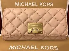 NWT MICHAEL KORS SOFT QUILTED LEATHER ASTRID CARRYALL WALLET - BALLET/GOLD-HRDWR
