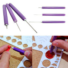 3Pcs Paper Quilling Tool Origami 2 Assorted Forked Needles+1 Slotted Handcraft Q