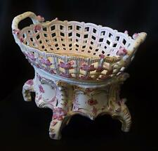 Herend Porcelain Reticulated Fruit Basket on Stand 2pc AP---7475 and 7476