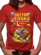 Marvel Dr Strange Comic Cover Red T-Shirt Licensed Top XL