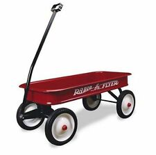 Radio Flyer 18 Classic KIDS WAGON, 10 Inch Steel Wheels RADIO FLYER WAGON, Red