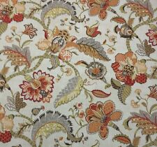 P KAUFMANN FINDERS KEEPERS SPICE ORANGE JACOBEAN FLORAL MULTIUSE FABRIC BY YARD