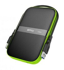 4TB Silicon Power Armor A60 stoßfest Portable Hard Drive USB - 3.0 - Black/Green