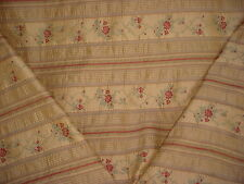 18+y SCHUMACHER VICTORIAN EMBROIDERED FLORAL VINE BROCADE UPHOLSTERY FABRIC
