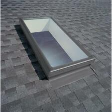 "22.5"" x 46"" Fixed Mount Skylight Tempered Low E3 Glass Argon Filled Dual Panes"
