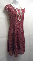 20'S 30'S STYLE GATSBY VINTAGE LACE CHARLESTON FLAPPER DRESS 10 12 14 16 18 20
