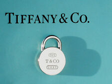 Tiffany & Co Sterling Silver 1837 Round Padlock Charm ONLY