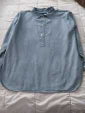 Ralph Lauren Women's Size M Medium Size 10 Long Sleeve Classic Indigo Shirt