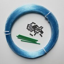 OUTRIGGER LEADER LINE 2.0MM 100YDS 400LB CRIMPS BLUE
