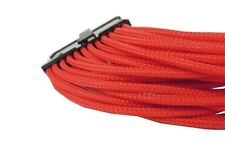 Gelid 24 Pin (EPS) 30cm Single Sleeved UV-Reactive Cable (CA-24P-04) Red