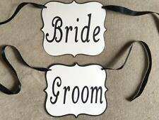 Bride and Groom chair signs. Perfect for Wedding Decorations. Great for Pictures