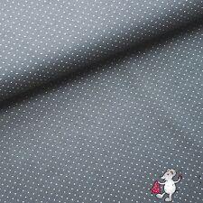 Jersey Punkte weiß auf Grau Stenzo