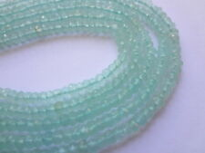 """2.5mm Faceted Rondelle Natural Chalcedony Semi Precious Gemstone Beads - 13"""" Str"""