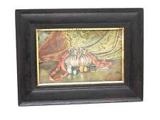 Framed Signed Water Color Painting SEWING TOOLS - NAOMI CLUBB 1890 Philadelphia