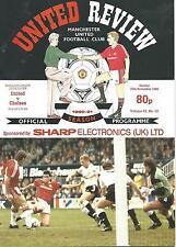 Manchester United v Chelsea - Div 1 - 25/11/1990 - Football Programme