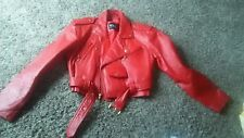 Wilson Women's Red Leather Jacket Vintage 1980s Wilson's thick Leather Med size