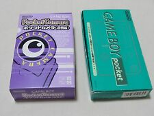 Nintendo Game Boy Pocket Green Box Manual GB Pocket Camera Lot of 2 Japan bundle