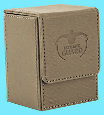 ULTIMATE GUARD XENOSKIN FLIP DECK CASE Standard Size SAND 80+ MTG Card Box