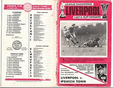 Fussball Programmheft Liverpool League Champions UEFA Cup Division 1 / 1973