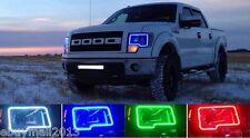 2 x RGB Halo Rings For F150 & Raptor Multi-Color LED Demon Devil Angel Eyes DRL