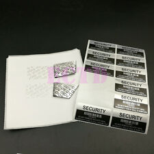100pcs VOID Security Labels Sticker With Serial Number And Barcode,