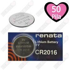50 CR2016 Renata Pila 3V Batteria al Litio 90 mAh CR 2016