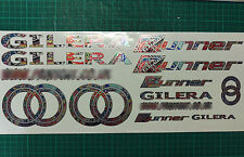 Gilera Runner Decals Stickers EXCLUSIVE StickerBomb sp vx fx vxr fxr st  SILVER