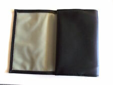 Black PVC 2oz Tobacco Pouch Holder With Fold Closure Rubber Lined New UK Seller