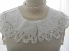 Vintage White Cotton Battenburg Lace Collar