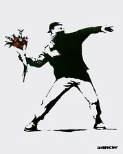 Love is in the Air, Offset Lithograph, BANKSY