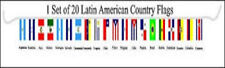 Latin American Country 12x18 Bunting Flags Banner (20 Flags)