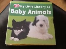 BRAND NEW CHAD VALLEY MY LITTLE LIBRARY BABY ANIMAL 6 BOOK SET IN BOX .  NEW