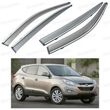 Front & Rear Car Window Visor Deflectors Vent Shade for Hyundai Tucson 2010-2015