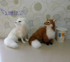 New Year Christmas scene shop counter furnishing articles ornaments arctic fox