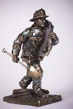 Firefighter Rush to the Scene Figurine Fireman Statue Fire Dept Memorabilia New