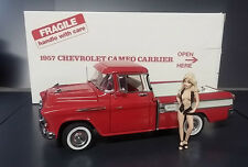 1957 CHEVROLET CAMEO CARRIER RED PICKUP TRUCK DANBURY MINT DIECAST 1:24 NIB