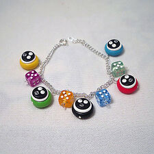 mighty boosh bracelet coloured with dice emo cool