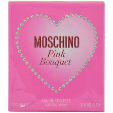 Pink Bouquet by Moschino for Women - 3.4 oz EDT Spray NEW In Sealed Box