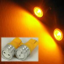 2x High Power 1W T10 LED Yellow Wedge Bulbs Licence plate Light 194 168 161 193