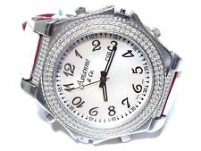 Avianne & Co Men's Diamond Flip Double Side Dual Stainless Steel Unique Watch