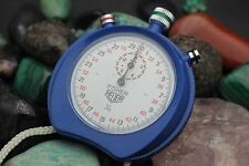 Vintage HEUER Fisher 1/10 Seconds Colorful 3 Button Stop Watch