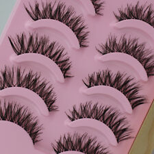Long Thick Cross 5 Pairs Makeup Beauty False Eyelashes Eye Lashes Extension cn