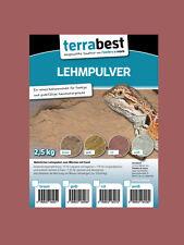 Terrabest Lehmpulver - rot 2,5kg zum mischen von Terrariensand Naturlehm