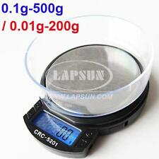 0.01g-200g 0.1g-500g Switchable Digital Pocket Scale Kitchen Weight Balance AU