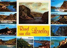 Rund um die Loreley  , Ansichtskarte gelaufen