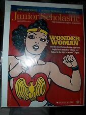 WONDER WOMAN COVER JUNIOR SCHOLASTIC  CHECK IT OUT HARD TO FIND 2015